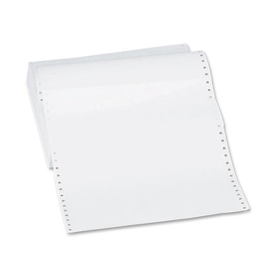 "Sparco Products Computer Paper, Plain, 20 lb., 12""x8-1/2"", 2400 Sheets/Carton, White"