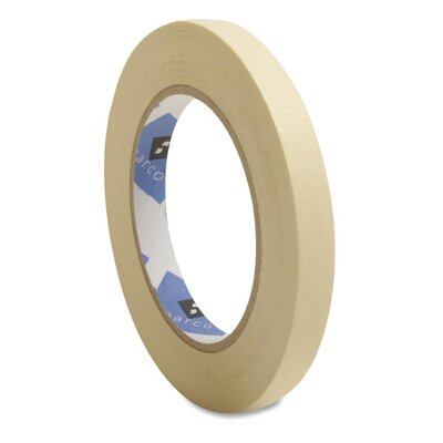 "Sparco Products Economy Masking Tape, 3"" Core, Natural Kraft"