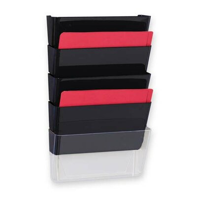 Sparco Products Vertical File System, 3/PK, Black
