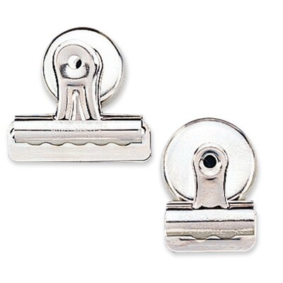 """Sparco Products Bulldog Clip, Magnetic Back, Size 1, 1-1/4""""W, 3/8""""Cap, 18/BX, SR"""