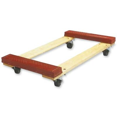 """Sparco Products Cross member Dolly, 18""""x30""""x5-3/4"""", 1000 lb Capacity, Red"""