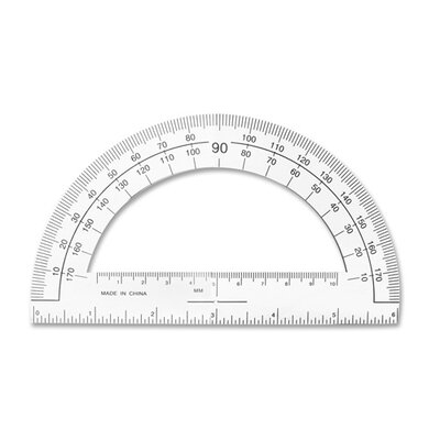 "Sparco Products Plastic Protractor, 6"" Long, Clear"