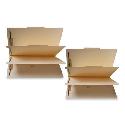 """Sparco Products Six Part Folder, Two 1"""" Capacity Fstnr, Letter-Size, Manila"""