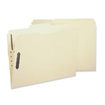 Sparco Products Fastener Fldr, w/2-Ply Tab, 1 Fstnr, 1/3 Tab, Ltr, 50/BX, MA