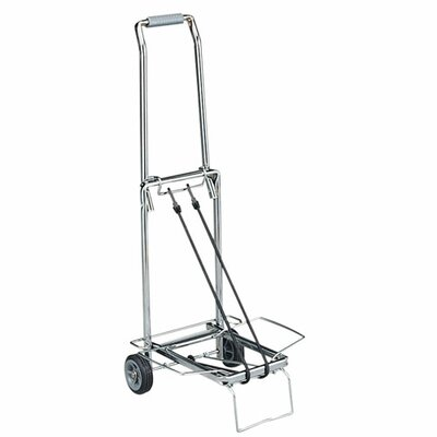 "Sparco Products Compact Luggage Cart, 150 lb Cap, Open 14-3/4""x13-3/4""x35"""