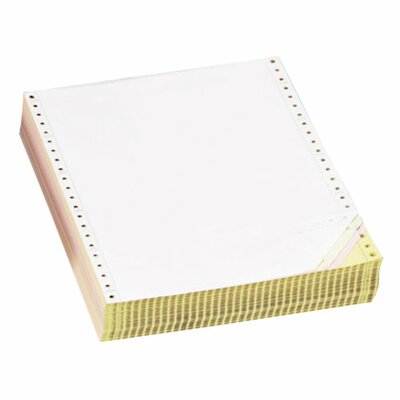 """Sparco Products Computer Paper, Multipart, 3 Parts, 9-1/2""""x11"""", White/YW/PK"""