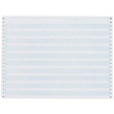 """Sparco Products Computer Paper, 1/2"""" Blue Bar, 20 Lb, 14-7/8""""x11"""", 2400/CT"""