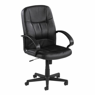 Lorell Chadwick Mid-Back Leather Conference Chair with Arms