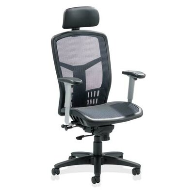High-Back Mesh Conference Chair with Arms by Lorell