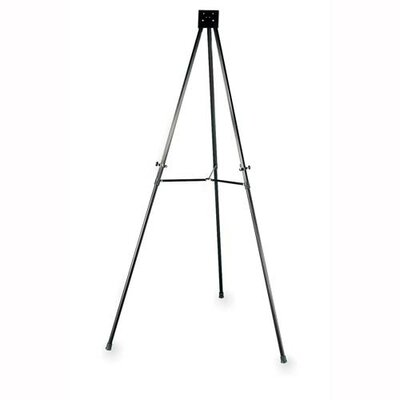 "Lorell Telescoping Aluminum Easel, Adjust Legs, 66"", Black"