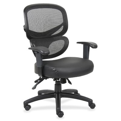 Mid-Back Mesh Leather Conference Chair by Lorell
