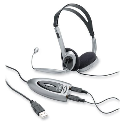 Compucessory Compucessory Multimedia USB Stereo Headset, Black and silver