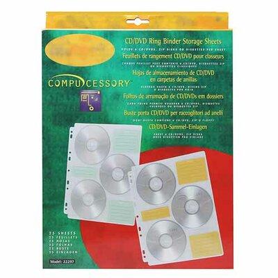 Compucessory Compucessory 25 CD Media Binder Refill Sheets