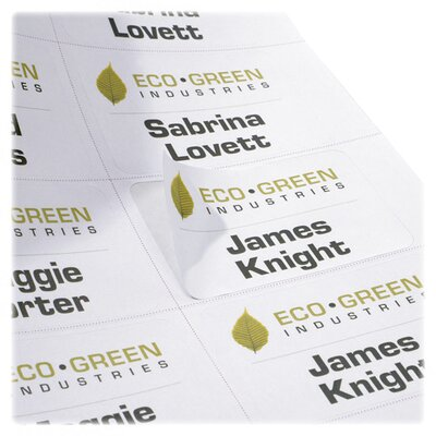 Nature Saver Recycled Name Badge Labels, White