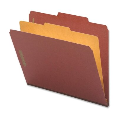 Nature Saver Classification Folders, Letter, 1 Partition, 10/BX, Red