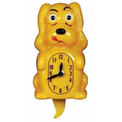Animated Clocks Pooch Clocker Spaniel Yellow Wall Clock