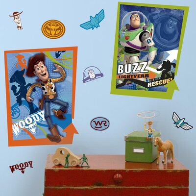 Toy Story Buzz and Woody Wall Decal by Room Mates