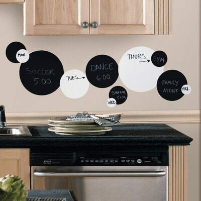 Deco 31 Piece Dots Chalkboard Wall Decal by Room Mates