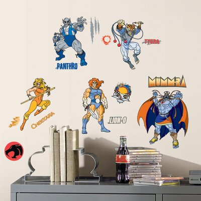 Peel and Stick Giant 34 Piece Thundercats Wall Decal by Room Mates