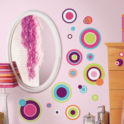 Peel and Stick Crazy Dots Wall Decal by Room Mates