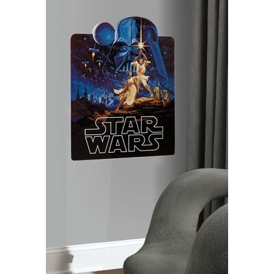 Room Mates Peel and Stick Giant Star Wars Classic Collage Wall Mural