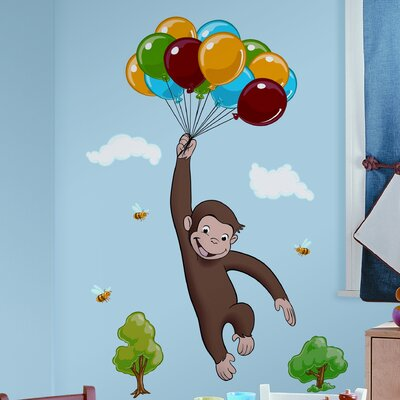 Favorite Characters 10 Piece Curious George Giant Wall Decal by Room Mates