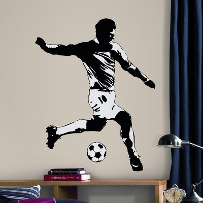 Room Mates Studio Designs 6 Piece Soccer Player Wall Decal