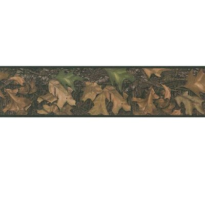 "Room Mates Studio Designs Mossy Oak Camo Peel and Stick 15' x 5"" Floral and Botanical Border Wallpaper"