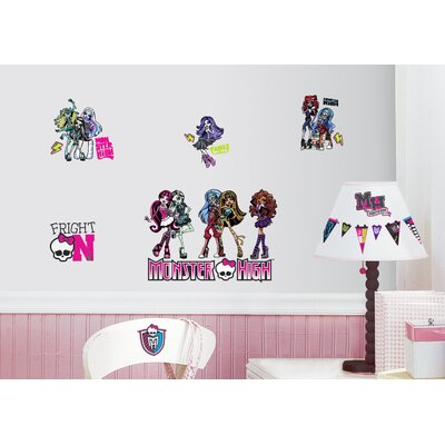 Room Mates Peel and Stick 37 Piece Monster High Wall Decal