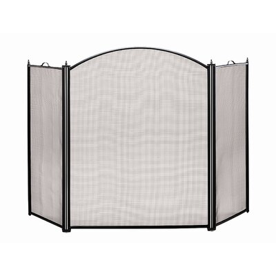 Arched 3 Panel Steel Fireplace Screen by Minuteman