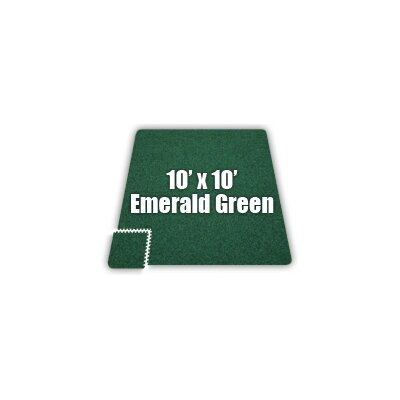Alessco Inc. SoftCarpets Set in Emerald Green