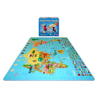 Play and Learn Style 1355 World Map Mat by Alessco