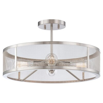 Downtown Edison 4 Light Semi-Flush Mount Product Photo