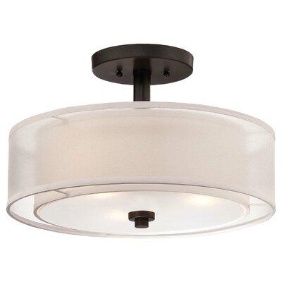 Parsons Studio 3 Light Semi-Flush Mount Product Photo