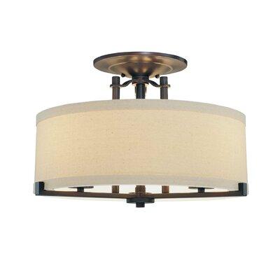 Ansmith 3 Light Semi Flush Mount Product Photo