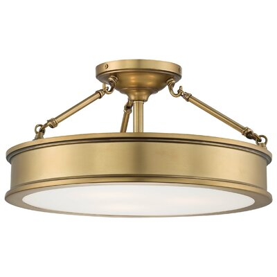 Harbour Point 3 Light Semi-Flush Mount Product Photo