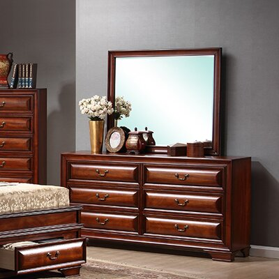 6 Drawer Dresser with Mirror by InRoom Designs