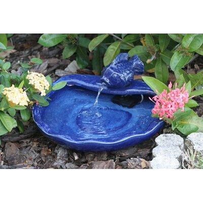 Smart Solar Solar Water Features Ceramic Koi Fountain