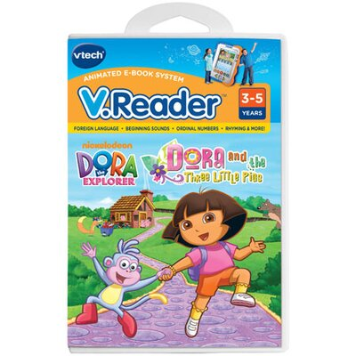 VTech Communications Nickelodeon Dora the Explorer V. Reader Cartridge - Dora and the Three Little Pigs