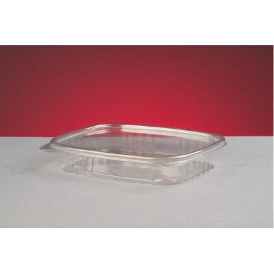 Genpak Shallow Clear Hinged Deli Container