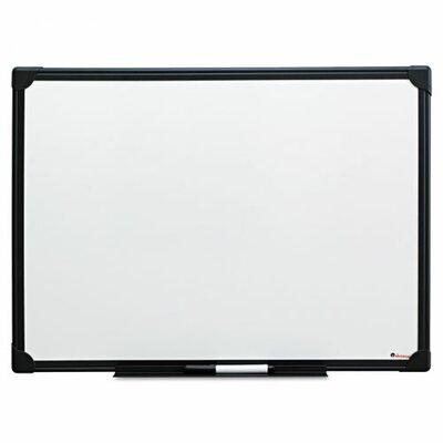 Universal Black Frame Dry-Erase Wall Mounted Whiteboard