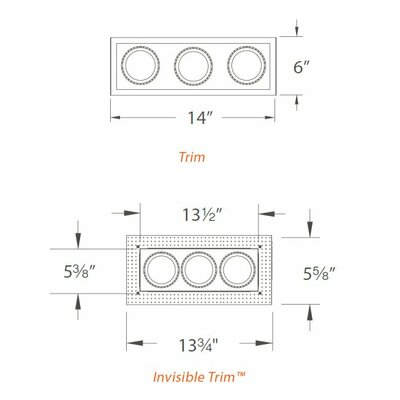 WAC Lighting Low Voltage Multi Spot Recessed Trim
