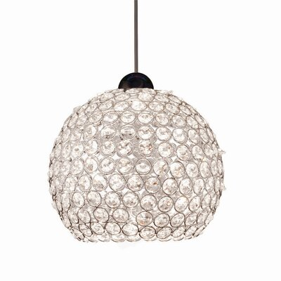 Crystal Roxy Quick Connect 1 Light Pendant by WAC Lighting