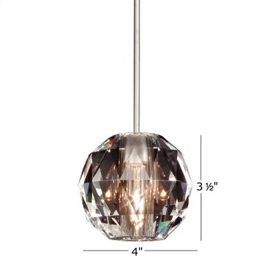 Crystal Polaris 1 Light Pendant by WAC Lighting