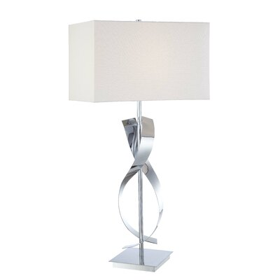 """George Kovacs by Minka Portables 25"""" H Table Lamp with Rectangular Shade"""