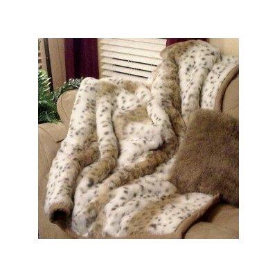 Lynx Jacquard Faux Fur Throw Blanket by Posh Pelts