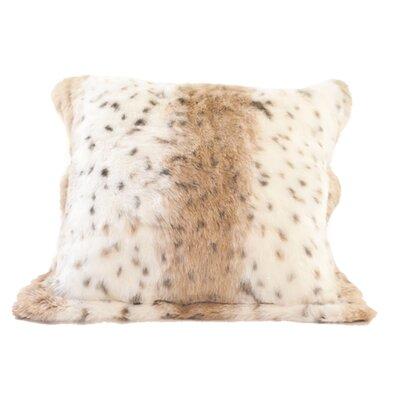 Lynx Jacquard Faux Fur Pillow Cover by Posh Pelts