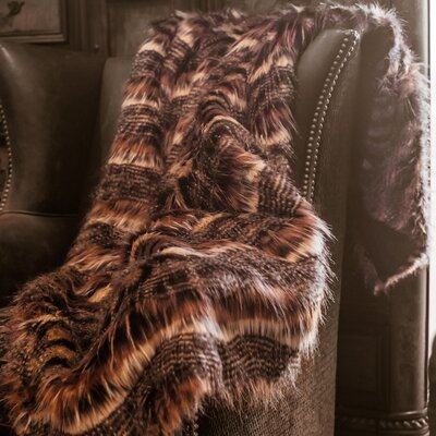 Red Fox Tail Throw Blanket by Posh Pelts
