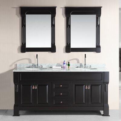 "Design Element Marcos 72"" Double Bathroom Vanity Set with Mirror"