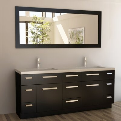 "Moscony 72"" Double Bathroom Vanity Set with Mirror Product Photo"